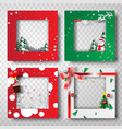 paper art and craft of christmas border frame vector image vector image