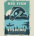 retro poster fisherman club vector image