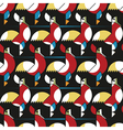roosters pattern vector image vector image