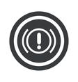 Round black alert sign vector image vector image