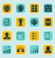 set of 16 human resources icons includes vector image vector image