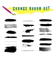 Set of grunge brushes vector image vector image