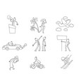 set of nine different situations vector image vector image