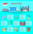 singapore culture infographic vector image