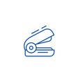 stapler line icon concept stapler flat vector image vector image