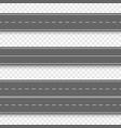 straight asphalt roads vector image