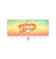 summer sale banner with exploding speech bubble on vector image vector image