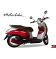 Summer Travel Design - Red Scooter vector image vector image