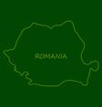 symbol poster banner romania silhouette romanian vector image vector image