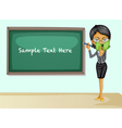 Teacher teaching lesson vector image vector image