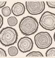 tree rings trunk pattern background vector image vector image