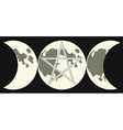triple goddess sign vector image vector image