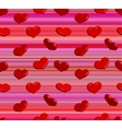 Valentine seamless pattern with shiny red hearts vector image vector image