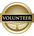 volunteer gold icon vector image