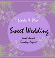 wedding invitation card suite with flower vector image vector image