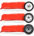 Wheels with Banner vector image vector image