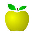 yellow apple on a white background vector image vector image