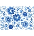 seamless pattern in traditional russian vector image