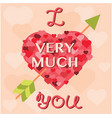valentine day cards template vector image