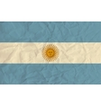 Argentina paper flag vector image vector image