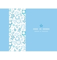 Baby boys horizontal frame seamless pattern vector image vector image