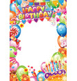birthday card with place for text vector image vector image
