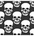 black skulls print skull pattern hand drawn vector image vector image