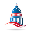 Capitol building in red white and blue vector image