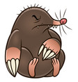 cartoon mole pest vector image vector image