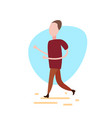 casual running man on white background male vector image