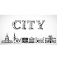 City town background vector image vector image