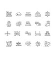 computer network services line icons signs vector image vector image
