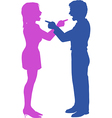 Couple yell point fight in argument vector image vector image