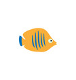 cute fish icons set fish flat vector image vector image