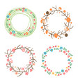 decorative spring autumn summer wreaths vector image