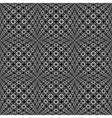 Design seamless monochrome warped pattern vector image