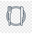 dinner concept linear icon isolated on vector image