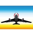 flying up passenger plane vector image vector image