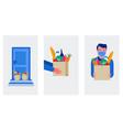 food delivery service concept online order vector image vector image