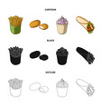 food refreshments snacks and other web icon in vector image vector image