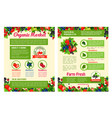 fruit and berry organic market posters vector image vector image