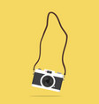 hanging camera with strap vector image vector image