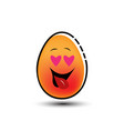 happy egg mascot cartoon vector image