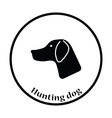 Hunting dog had icon vector image vector image