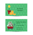 investor businessman business card layout vector image