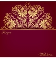 invitation card with filigree elements vector image vector image