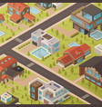 isometric house background vector image vector image
