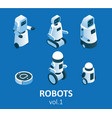 isometric modern robotics icon set vector image vector image