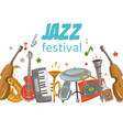 jazz and blues festival or music party vector image vector image