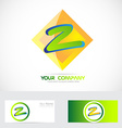 Letter Z green orange logo vector image vector image